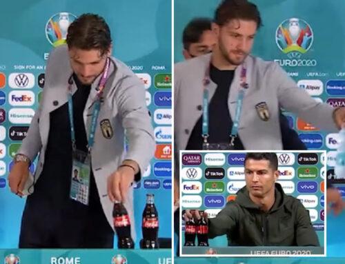 Euro 2020 – Όπως ο Κριστιάνο έτσι και ο Λοκατέλι μετακίνησε από μπροστά του δυο μπουκάλια της Coca Cola
